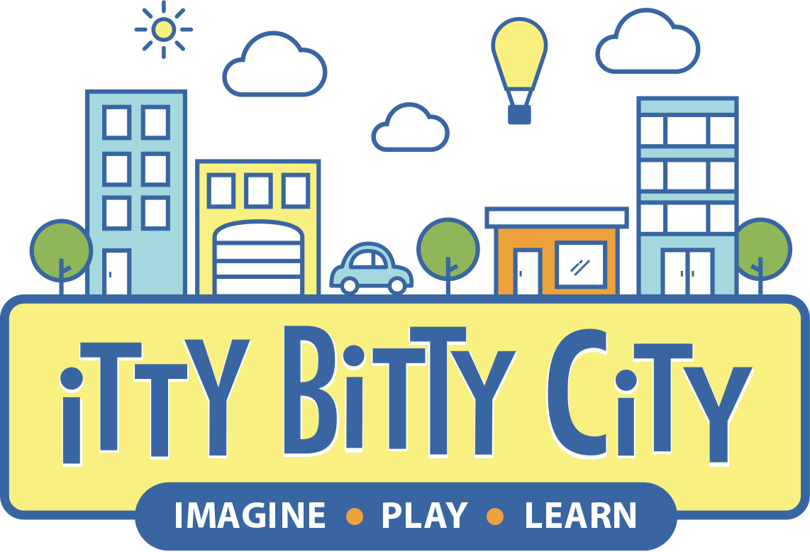 Brand identity logo design for Itty Bitty City in Springfield Mo
