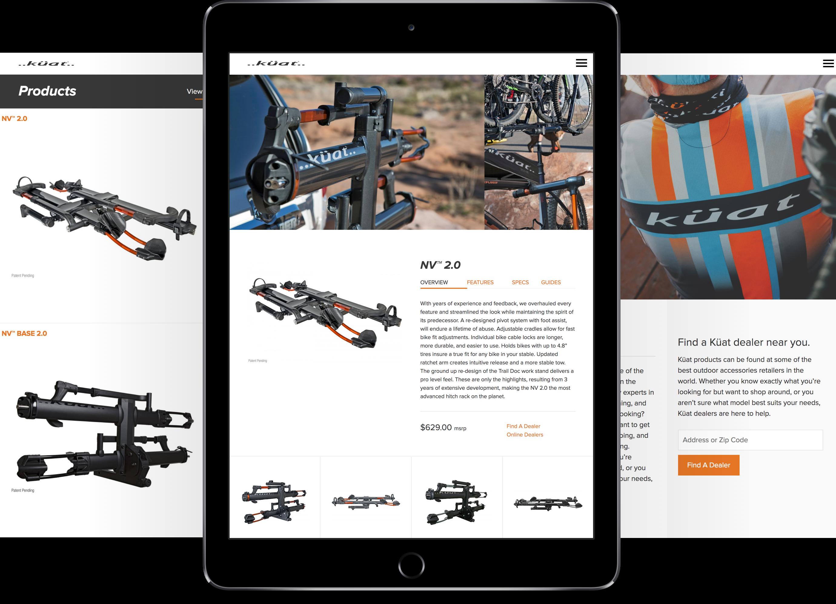 Kuat Racks responsive website design