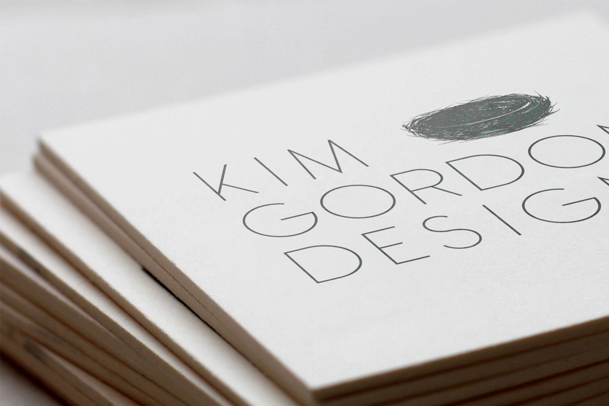 Kim Gordon Designs branding