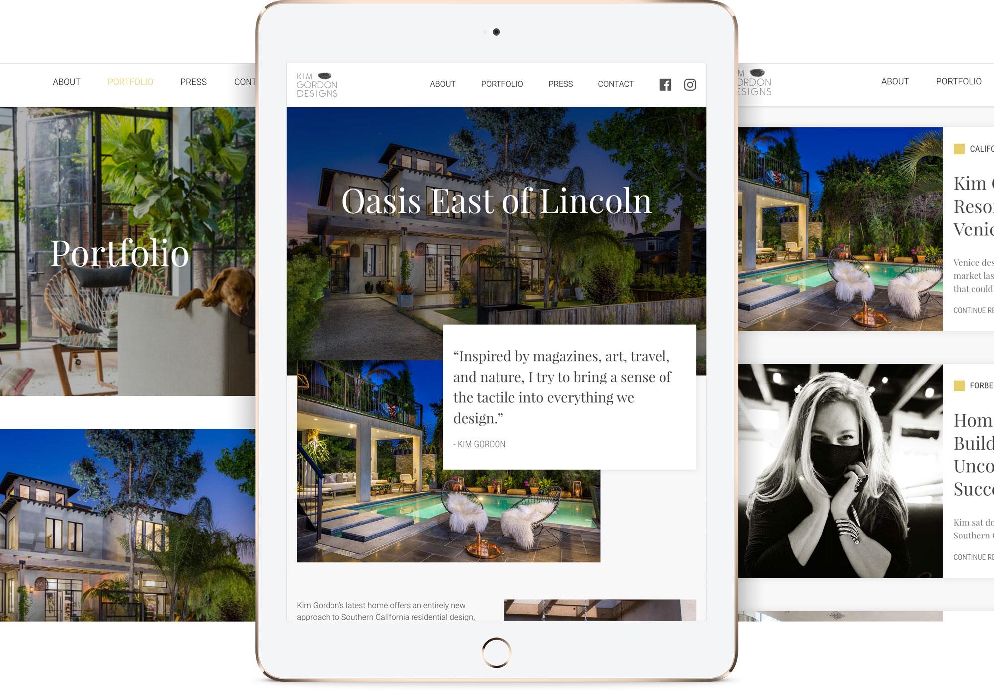 Responsive web design, Kim Gorgon Designs
