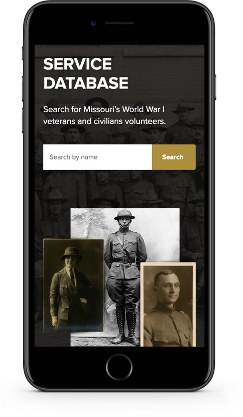 Mobile website design for Missouri Over There