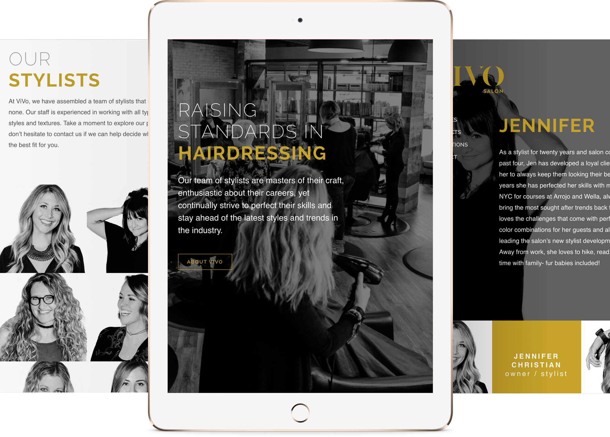 Responsive web design and development for Vivo Salon in Springfield Mo