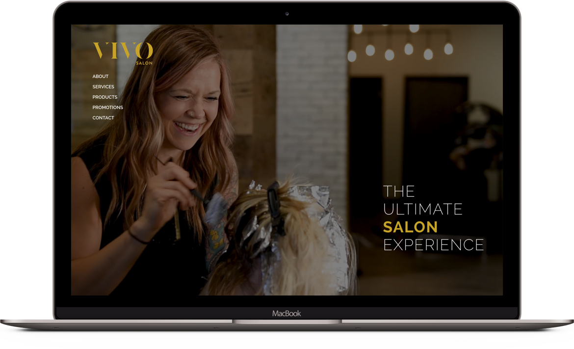 Website design and development for Vivo Salon in Springfield Mo